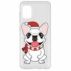 Чехол для Samsung A31 New Year's French Bulldog