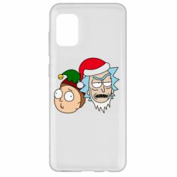 Чехол для Samsung A31 New Year's Rick and Morty