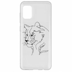 Чехол для Samsung A31 Outline drawing of a lion