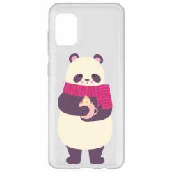Чехол для Samsung A31 Panda and Cappuccino