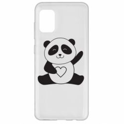 Чохол для Samsung A31 Panda and heart