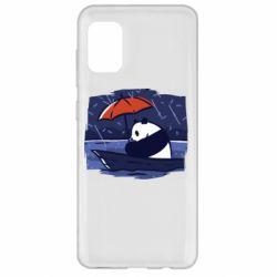 Чехол для Samsung A31 Panda and rain