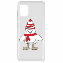 Чехол для Samsung A31 Penguin in the hat and scarf