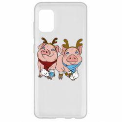 Чохол для Samsung A31 Pigs