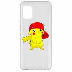 Чехол для Samsung A31 Pikachu in a cap