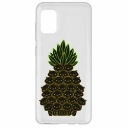 Чехол для Samsung A31 Pineapple cat