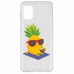 Чехол для Samsung A31 Pineapple with coconut