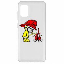 Чехол для Samsung A31 Писающий хулиган-пожарный
