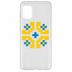 Чехол для Samsung A31 Pixel pattern blue and yellow