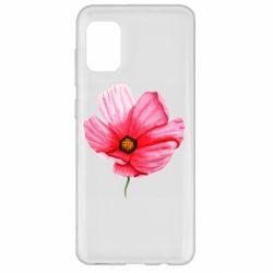 Чехол для Samsung A31 Poppy flower