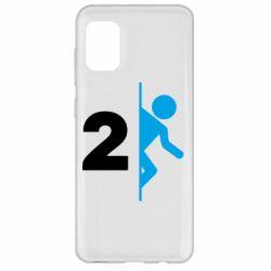 Чехол для Samsung A31 Portal 2 logo