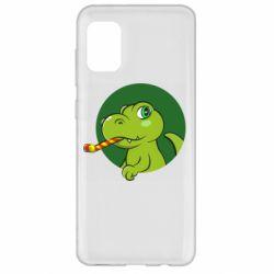 Чохол для Samsung A31 Святковий динозавр