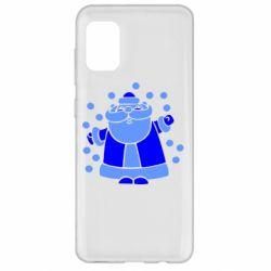 Чохол для Samsung A31 Прикольний дід мороз