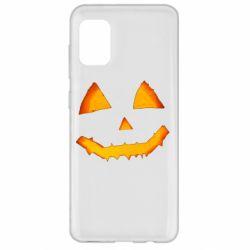 Чохол для Samsung A31 Pumpkin face features