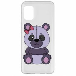 Чохол для Samsung A31 Purple Teddy Bear