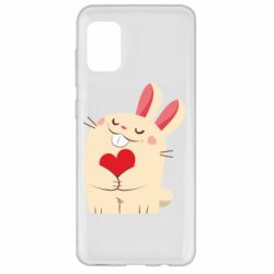 Чехол для Samsung A31 Rabbit with heart