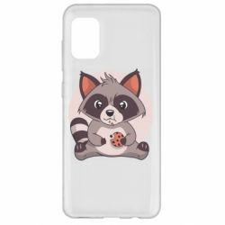 Чохол для Samsung A31 Raccoon with cookies