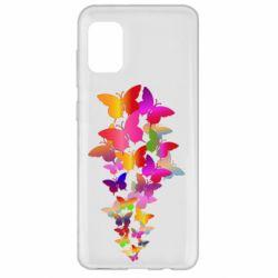 Чохол для Samsung A31 Rainbow butterflies