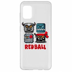 Чехол для Samsung A31 Red ball heroes
