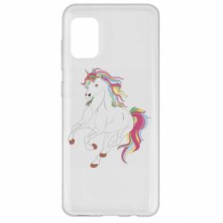 Чохол для Samsung A31 Red eye unicorn