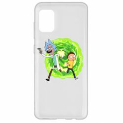 Чохол для Samsung A31 Rick and Morty art