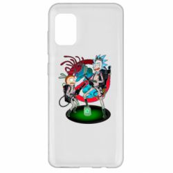 Чохол для Samsung A31 Rick and Morty as Ghostbusters