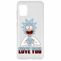 Чохол для Samsung A31 Rick and Morty fack and love you