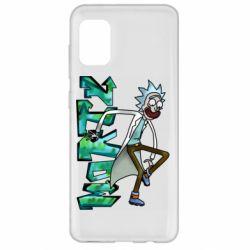 Чохол для Samsung A31 Rick and text Morty