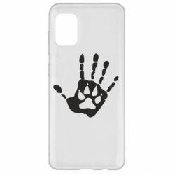 Чехол для Samsung A31 Рука волка