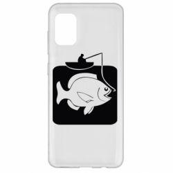 Чехол для Samsung A31 Рыба на крючке