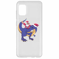 Чехол для Samsung A31 Santa and T-Rex