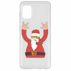 Чохол для Samsung A31 Santa Claus with a tube
