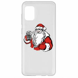 Чехол для Samsung A31 Santa Claus with beer