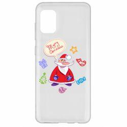 Чехол для Samsung A31 Santa says merry christmas