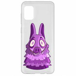 Чохол для Samsung A31 Scared llama from fortnite