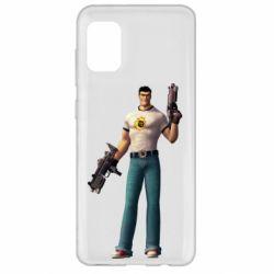 Чехол для Samsung A31 Serious Sam with guns
