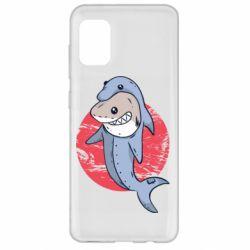 Чехол для Samsung A31 Shark or dolphin