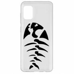 Чехол для Samsung A31 скелет рыбки
