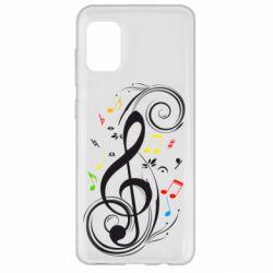 Чехол для Samsung A31 Скрипичный ключ