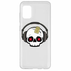 Чохол для Samsung A31 Skull in headphones 1