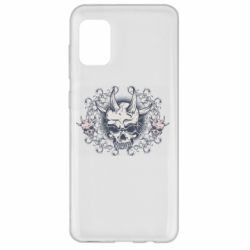 Чохол для Samsung A31 Skull with horns and patterns