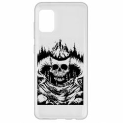 Чехол для Samsung A31 Skull with horns in the forest