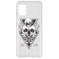 Чохол для Samsung A31 Skull with insect