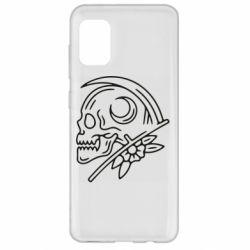 Чохол для Samsung A31 Skull with scythe