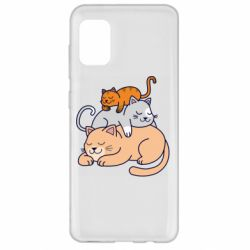 Чехол для Samsung A31 Sleeping cats