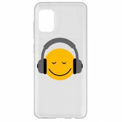 Чехол для Samsung A31 Smile in the headphones