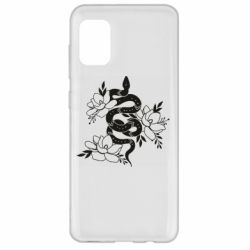 Чохол для Samsung A31 Snake with flowers