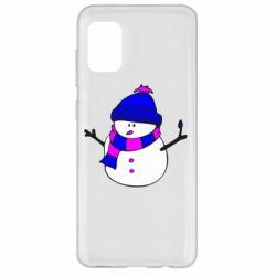 Чехол для Samsung A31 Снеговик