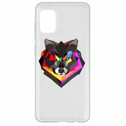 Чехол для Samsung A31 Сolorful wolf