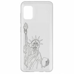 Чохол для Samsung A31 Statue of Liberty with a medical mask